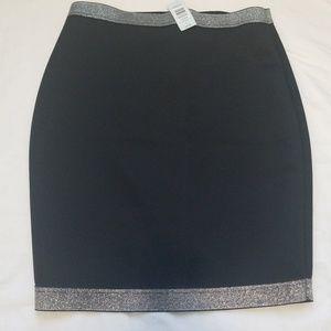 Torrid black skirt  silver top&bottom stripe $28